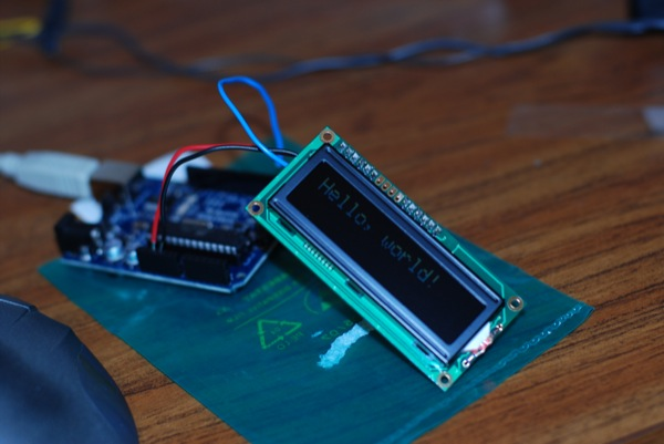 LCD hooked up to my Arduino